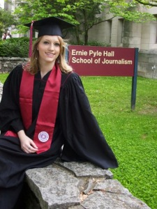 A visit to the Ernie Pyle School of Journalism at Bloomington before my 2009 IU graduation.